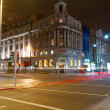 Stock Photo: O'Connell street in Dublin at night