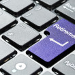 Stock Photo: Purple retirement button