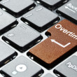 Stock Photo: Brown overtime button