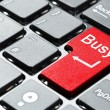 Red busy button — Stock Photo