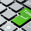 Green time button — Stock Photo