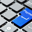 Foto Stock: Blue payment button