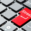 Stock Photo: Red stress button