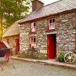 Traditional Irish cottage house - Stock Photo