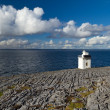 Burren Lighthouse in Co.Clare - Stock Photo