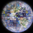 Earth with a global network — Stock Photo #9858136