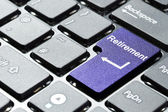 Purple retirement button — Stock Photo