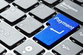 Blue payment button — Stock Photo