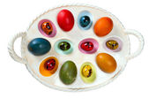 Colorful Easter egg tray — Foto Stock