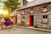 Traditional Irish cottage house — Stock Photo