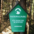 National Park sign — Stock Photo