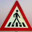 Stock Photo: Pedestricrossing signs