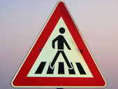 Pedestrian crossing signs — Stock Photo