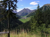 Vallée de montagne — Photo