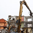 Demolition of flats - Stock Photo