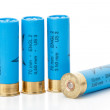 Isolated shotgun shells — 图库照片