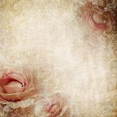 Grunge beige wedding background — Stock Photo