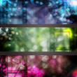Abstract cinema banner set — Stock Photo