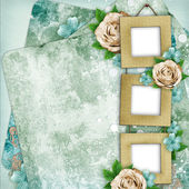 Beautiful album page in scrapbook style — Stock Photo