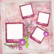 Stock Photo: Pink frames for photo