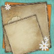 Stock Photo: Vintage card for the holiday with frames, flowers on the abstrac