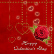 Happy valentines day card — Stockfoto