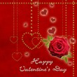 heureuse Saint Valentin carte — Photo
