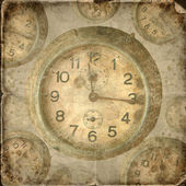 Vintage clock. Abstract time theme background — Stock Photo