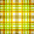 Yellow and green plaid seamless pattern — Stock Photo