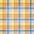 Plaid striped background with pastel blue, green, gold, orange a - Stock Photo