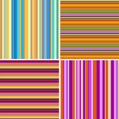 Retro stripe pattern with blue, orange, purple colors — Stock Photo