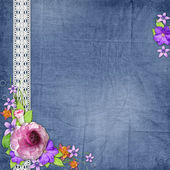 Background with a space for the photo or text and with flowers — Stock Photo