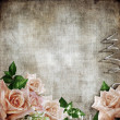 Foto Stock: Wedding vintage romantic background with roses