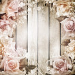 Wedding vintage romantic background with roses — 图库照片