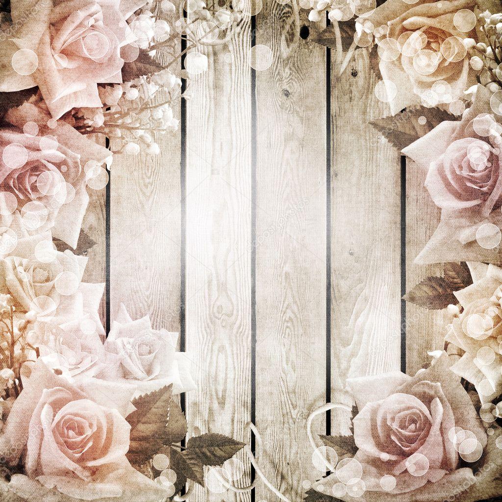 Romantic Antique Wedding: Matrimonio Vintage Sfondo Romantico Con Rose