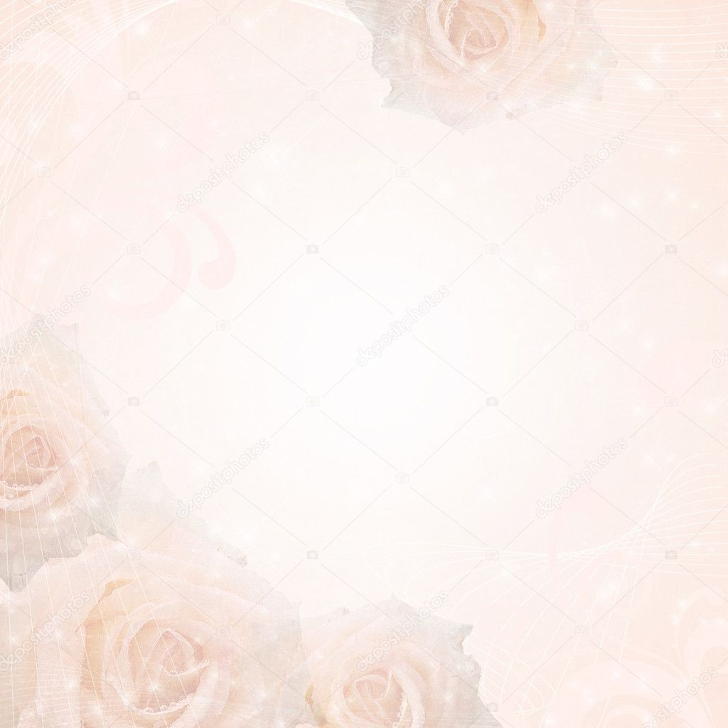 Matrimonio Bed Of Rose : Sfondo bel matrimonio con rose e telaio — foto stock o