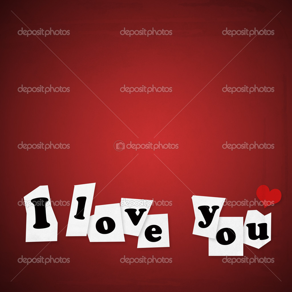 Love you paper note — Foto Stock #8963300