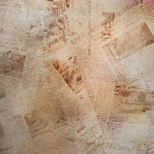 Grunge abstract background with old newspaper — Stock Photo