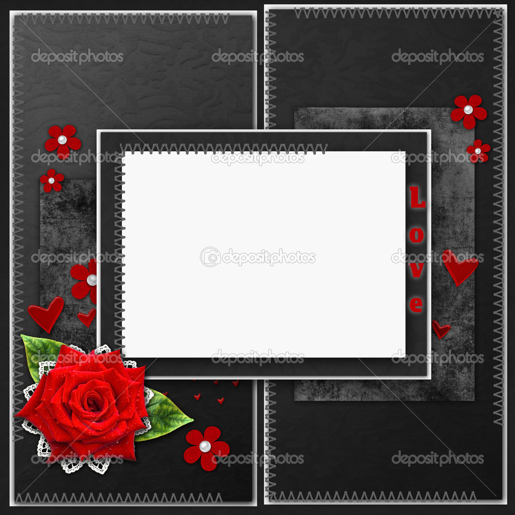 Vintage elegant frame with roses, lace and pearls — Stock Photo #9207109