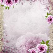 Fond blanc beau mariage — Photo