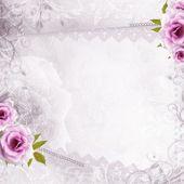 Fondo blanco boda hermosa — Foto de Stock