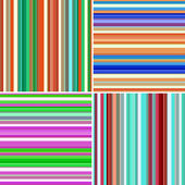Set of 4 striped backgrounds — Stock Photo