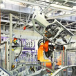 Robots in a car factory — Stock Photo