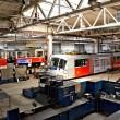 Trams in workshops in Depot Hostivar, Prague — Stock Photo