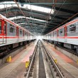 Subway trains in Depot Hostivar, Prague, Czech Republic — Stock Photo #9250907