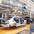 Assembling cars Skoda Octavia on conveyor line — Stock Photo #9251466