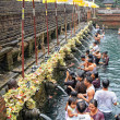 Prayers during purification at Puru Tirtha Empul temple, Bali — Stock Photo
