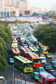 Traffic jam in Xi'an, China — Stock Photo