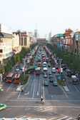 Heavy traffic in Xi'an, China — Stockfoto