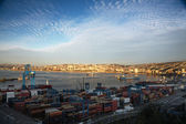 View on the chilean seaport Valparaiso, Chile — Stock Photo